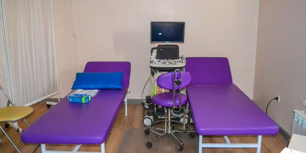Кабинет УЗИ диагностики в клинике Ридент
